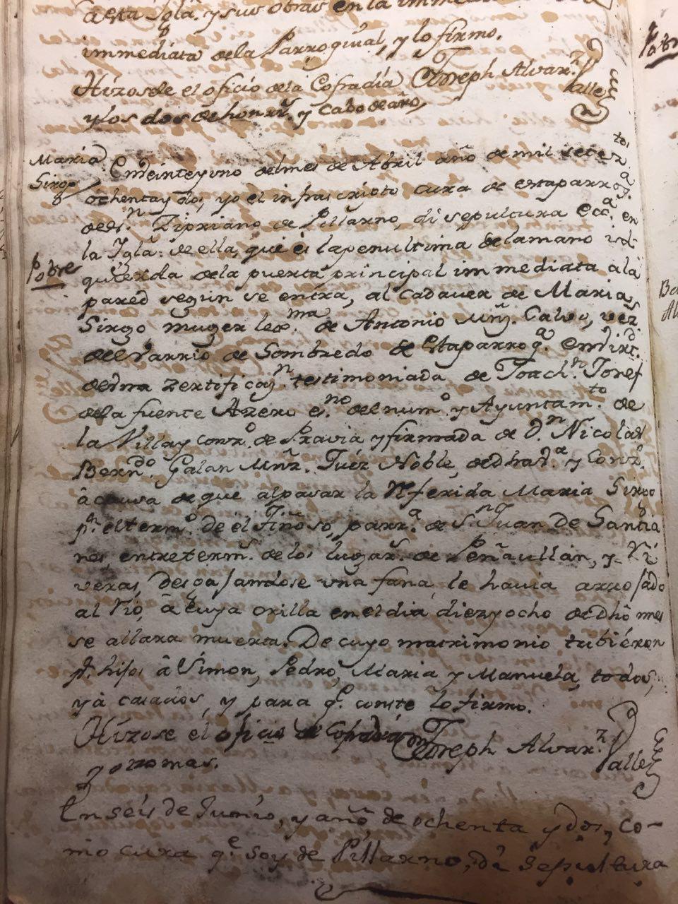Argayu mortal en El Tiñoso (1788)